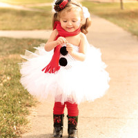 Little Miss FrostySnowman Tutu Dress Mini by lauriestutuboutique