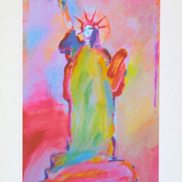 Statue of Liberty III, Limited Edition Lithograph, Peter Max