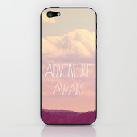 Adventure Awaits  iPhone & iPod Skin by Rachel Burbee
