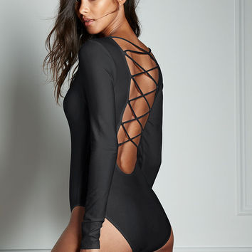 Lace-up Scoopback Bodysuit - Very Sexy - Victoria's Secret