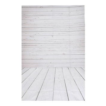 3x5ft Vinyl Photography Background Wall Floor Wooden Photographic Backdrops For Studio Photo Props Cloth 1 x 1.5m
