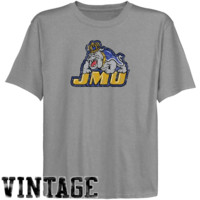James Madison Dukes Youth Ash Distressed Logo Vintage T-shirt - http://www.shareasale.com/m-pr.cfm?merchantID=7124&userID=1042934&productID=527502007 / James Madison Dukes