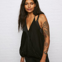 Don't Ask Why Satin Tank , Black