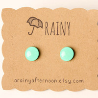 Mint Green Post Earrings