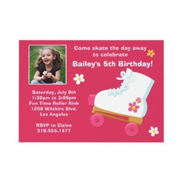 Roller Skating Birthday Party Invitation from Zazzle.com