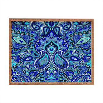 Aimee St Hill Paisley Blue Rectangular Tray