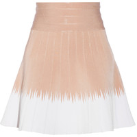 Hervé Léger Eden two-tone bandage flared mini skirt – 56% at THE OUTNET.COM
