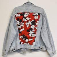 Classic Mickey Reworked Denim Jacket