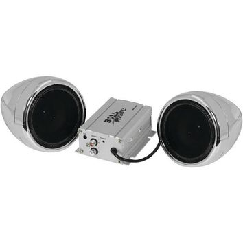 Boss Audio Systems MC400 600-Watt Motorcycle/All-Terrain Speaker & Amp System (Without Bluetooth(R), Silver)