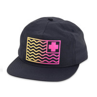 Pink Dolphin Flag Gradient Snapback In Navy