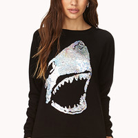 Shark Attack Sequined Sweatshirt