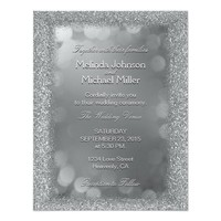 Wedding Invitation | Silver