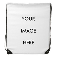 Personalized Photo Collage Drawstring Backpack