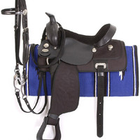 Saddles Tack Horse Supplies - ChickSaddlery.com King Series Synthetic Western Trail Saddle Package