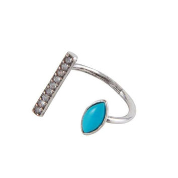 Life Is A Cabaret Ring in Turquoise and Antique Silver