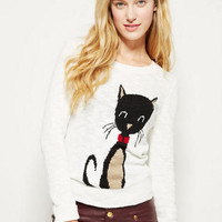 Bling Kitty Intarsia Sweater