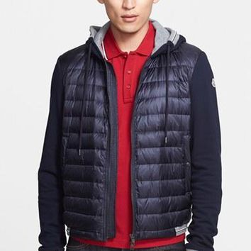 Men's Moncler Quilted Front Down Varsity Jacket