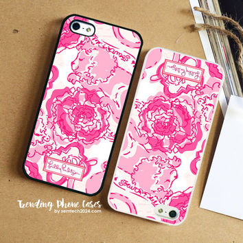 Phi Mu-Lilly Pulitzer iPhone Case Cover for iPhone 6 6 Plus 5s 5 5c 4s 4 Case