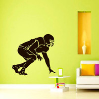 Vinyl Wall Decals Football Player Sport Decal Boy Room Kids Nursery Decal Sticker Home Decor Art Mural Z641