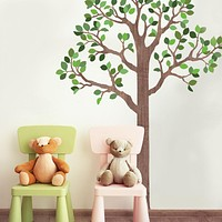 Large Woodland Tree Wall Decals, Eco-Friendly Fabric Wall Decals