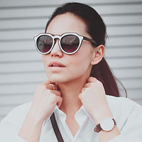 Women's Designer Block Cut Pattern Sunglasses