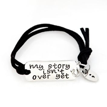 My Story Isn't Over Yet Semicolon Bracelet