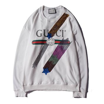 GUCCI Print Woman Men Fashion Top Sweater Pullover