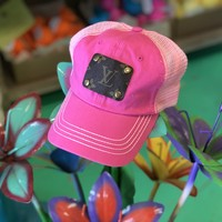 LV Hot pink hat