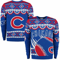 Klew Chicago Cubs Royal Blue Thematic Ugly Sweater
