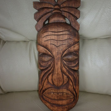 30% DISCOUNT with coupon code ELINKO Traditional African Mask Face Handmade Carved Wood Wall Hanging Art Decor Gift Idea ReAdy To Ship