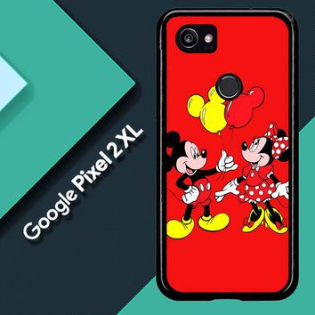 Baloon Love Mickey Minnie Mouse V1574 Google Pixel 2 XL Custom Case