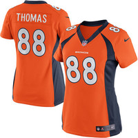 Women's Denver Broncos Demaryius Thomas Nike Orange Limited Jersey