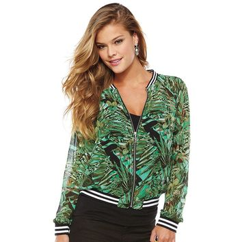 Juicy Couture Tropical Chiffon Bomber Jacket - Women's, Size: