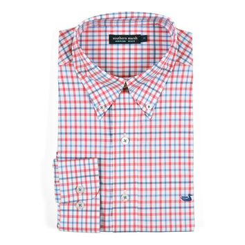 Chambers Performance Gingham Dress Shirt by Southern Marsh