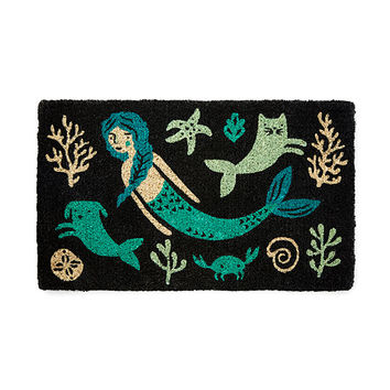 Sea Spell Doormat | coastal decor, beach decor, mermaid designs