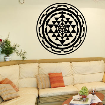 Vinyl Wall Decal Sticker Sri Yantra Design #OS_MB1256