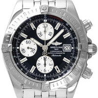 Lussotime - Breitling Chronomat Men's Stainless Steel Watch Black 145 - A1335611/B