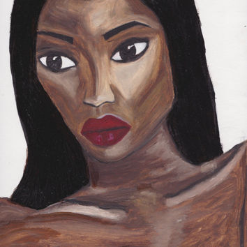 Original African Woman art, Black Girl Magic, bogo, gift for women & men, prints paintings, digital print, fashion  style ,Naomi Campbell