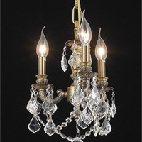 Reynard - Hanging Fixture (3 Light Traditional Crystal Pendant) - 7738D10