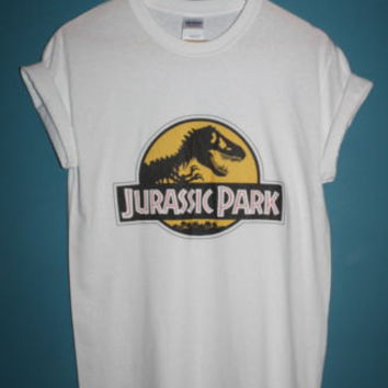 brand new * 90s iconic jurassic park t-shirt indie hipster vintage movie cult tumblr*  Available in Small, Medium, Large or XL.