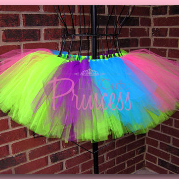 Arabella  Neon Pink Green Purple and Turquoise by liltutuprincess
