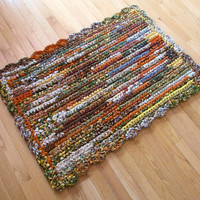 Rag Rug / Rectangular / Autumn Colors