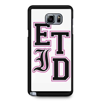 Every Time I Die Varsity Letters Samsung Galaxy Note 5 Case