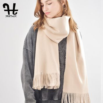 FURTALK women wool winter scarf oversized cashmere poncho scarves luxury brand for girls (70cm*180cm)