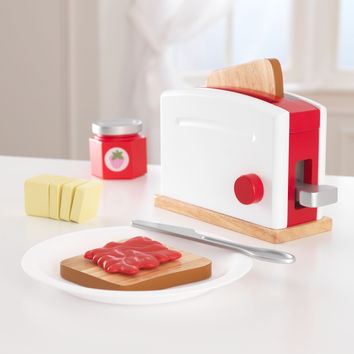 KidKraft Red & White Toaster Set - 63375