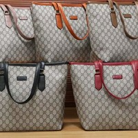 """Gucci"" Fashion Classic Double G Multicolor Little Tote Single Shoulder Messenger Bag Women Large Handbag"