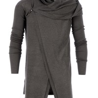 RICK OWENS draped asymmetric cardigan