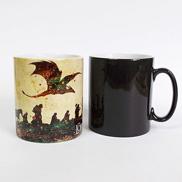 Lord of the Rings Color Changing Mug LOTR Cup Magic Mug Lord of the Rings Coffee Mug Magical Mug Dragon Hobbit Gandalf Tea Mug Funny Mug