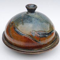 Large Handmade butter dish with lid. Ceramic Butter dish. Big Pottery and ceramics Butter dish.