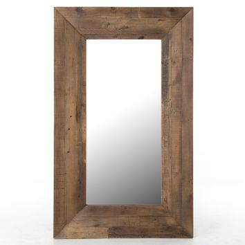 Bellona Reclaimed Wood Large Rectangle Mirror